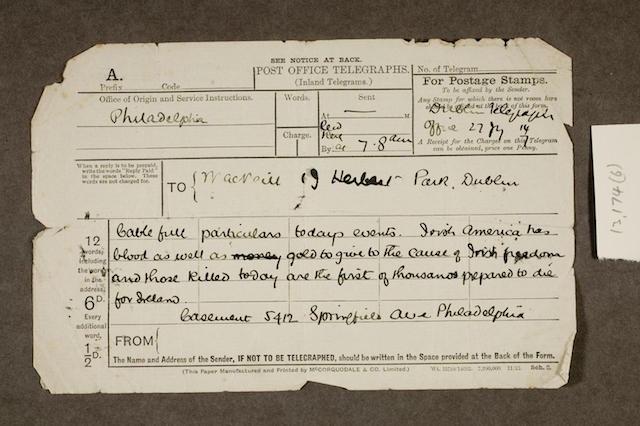 Irish War of Independence Telegram