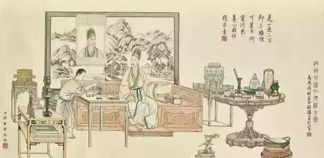 Scroll of Emperor Qianlong asking one or two