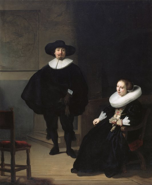 Rembrandt A Lady and a Gentleman in Black
