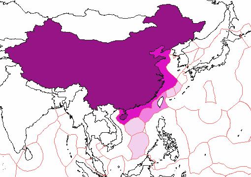Map: the South China Sea