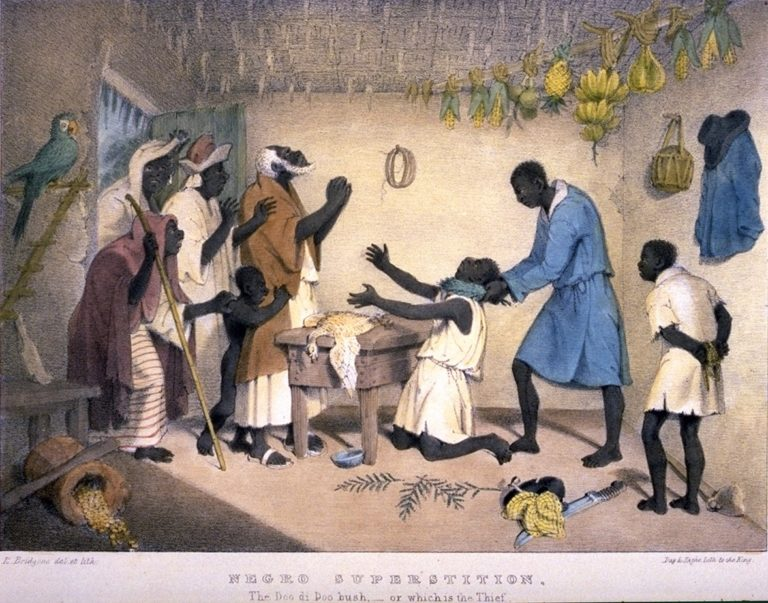 An Obeah Practitioner at Work