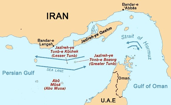 Map: Strait of Hormuz map