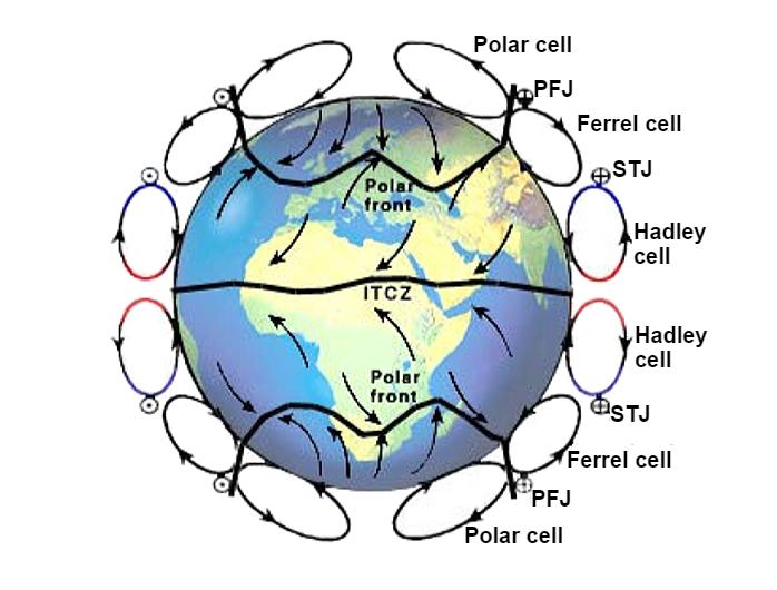 Global atmospheric and oceanic circulation Image 2