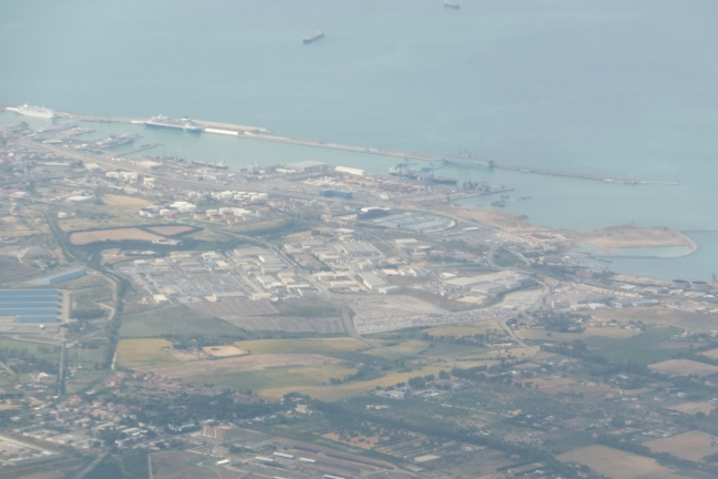Aerial view of basin C at Centumcellae