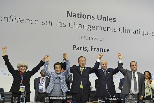 Photograph of the speakers at the COP21/CMP11