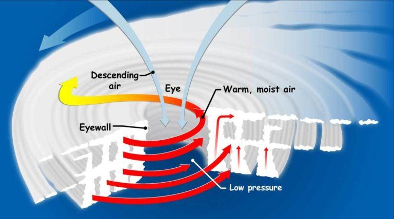 A 3D diagram of a tropical cyclone