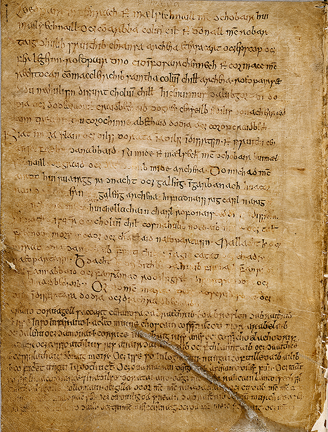 Fig 2, a page from a canon table detailing land transactions