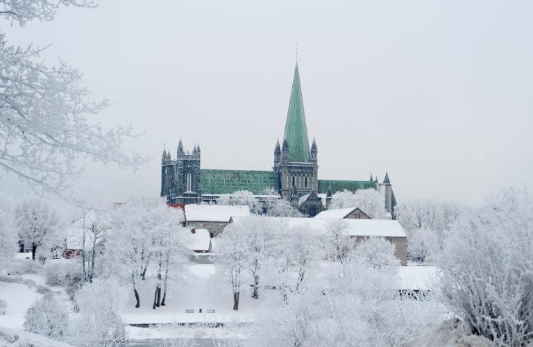 Nidaros Cathedral on Christmas