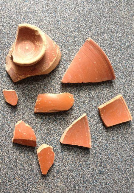 Fragments of a Gaulish Terra sigillata bowl