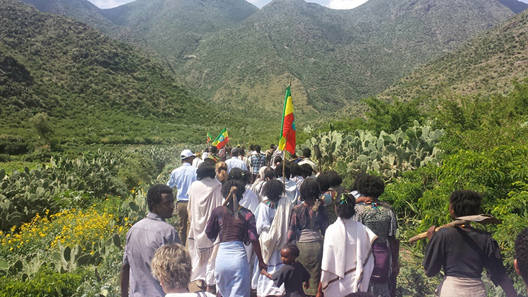 Ethiopians going to work