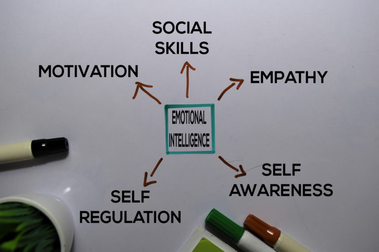 A graph showing features of emotional intelligence