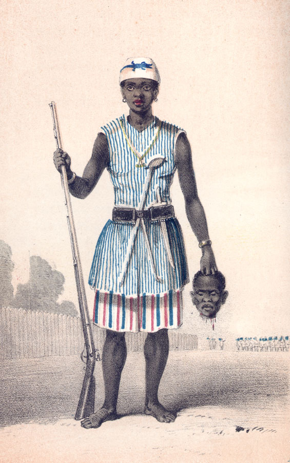 An individual leader of the Mino, drawn by Frederick Forbes in 1851