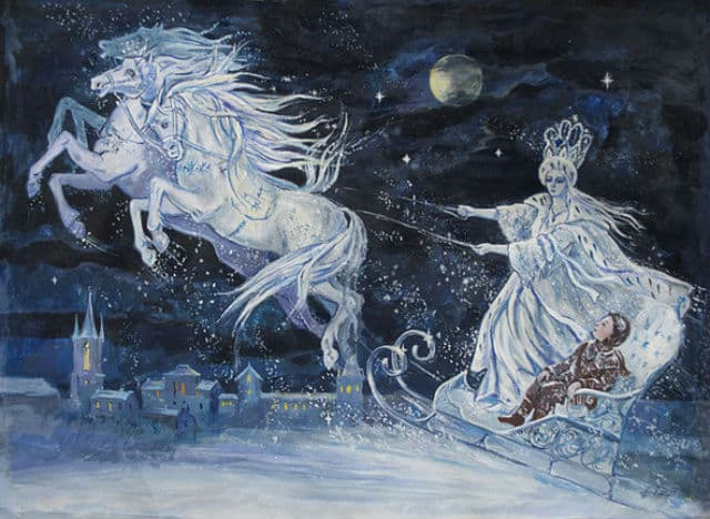 An illustration of The Snow Queen by Elena Ringo
