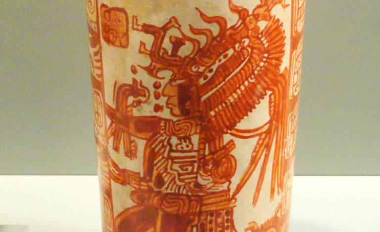 Maya vase in Gardiner Museum Toronto