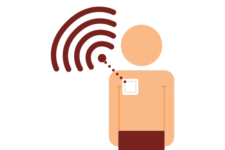 Illustration of a wi-fi enabled medical patch
