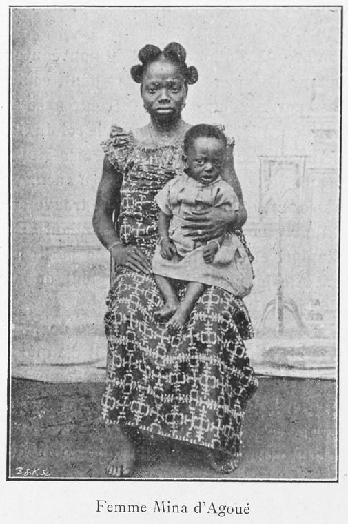 'Femme Mina d'Agoué' (1900). Schomburg Center for Research in Black Culture, Jean Blackwell Hutson Research and Reference Division. The New York Public Library Digital Collections.