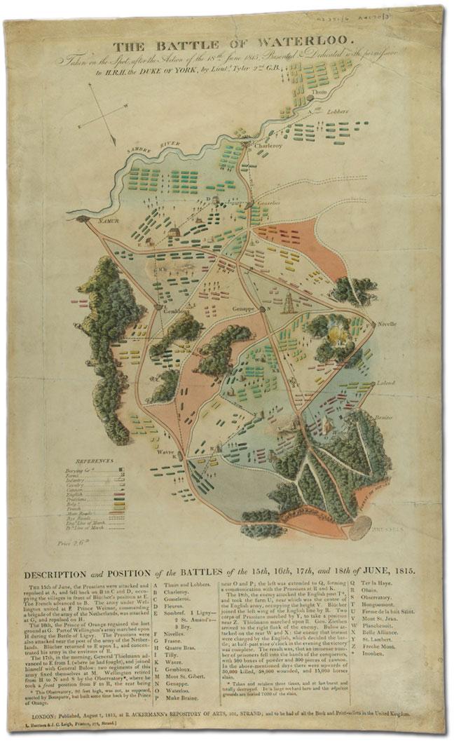 Battle of Waterloo map