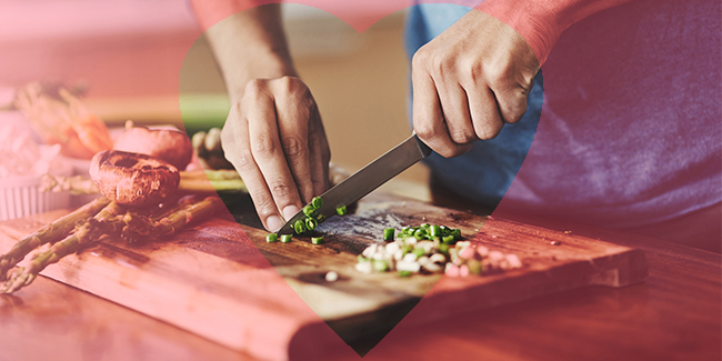 Photo of someone cooking