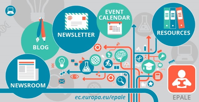What EPALE offers: resources, events, news and blog posts.