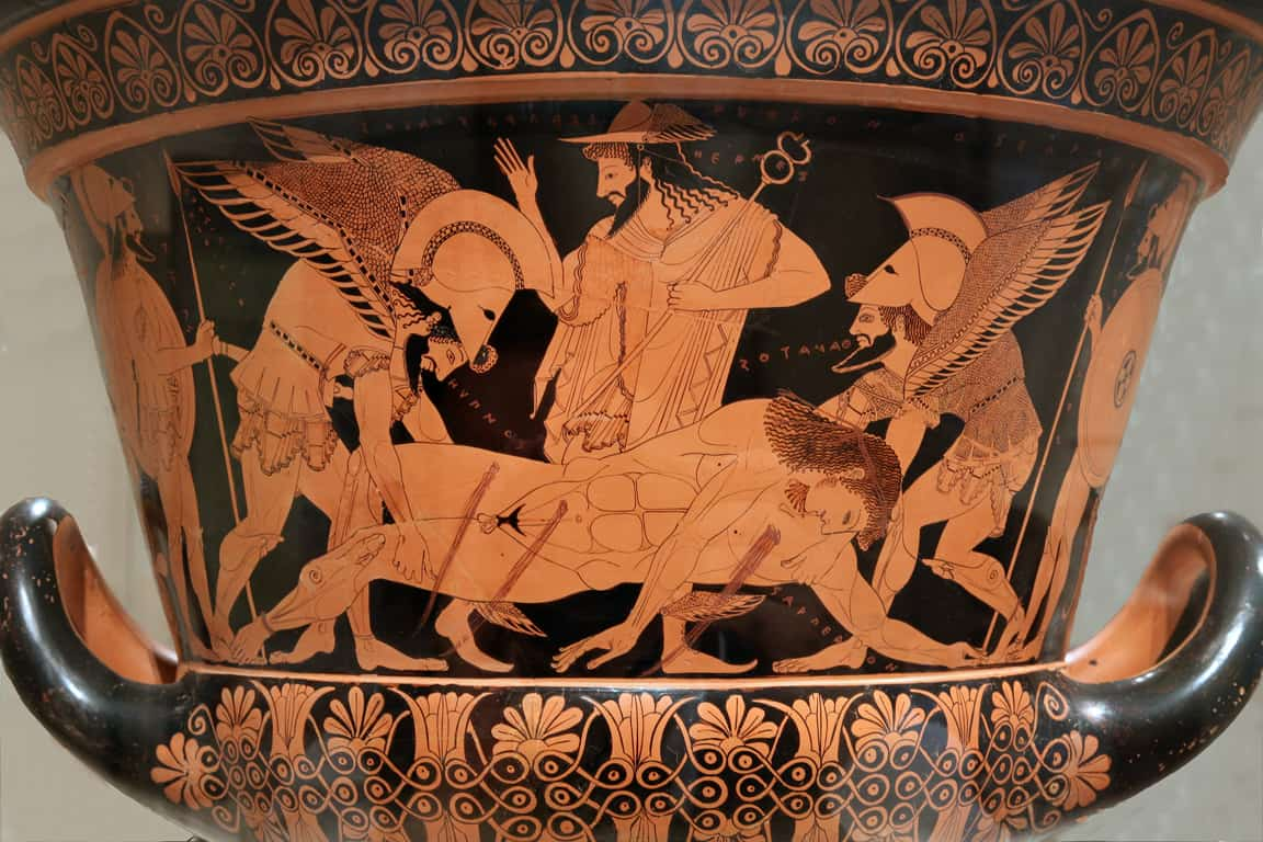 One example of art crime - an image of the Euphronios Krater (a large vessel used for mixing water and wine) taken by Jaime Ardiles-Arce.