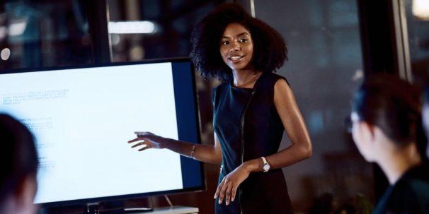 women communicating marketing strategy