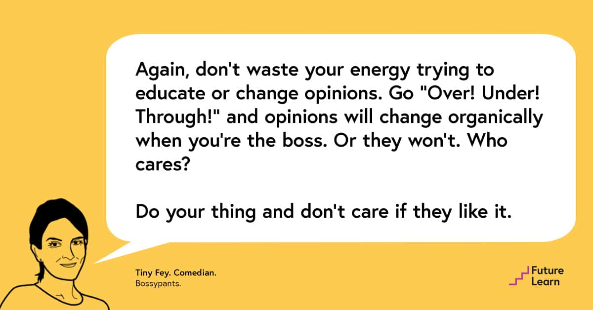 FutureLearn Leadership Quotes Tina Fey
