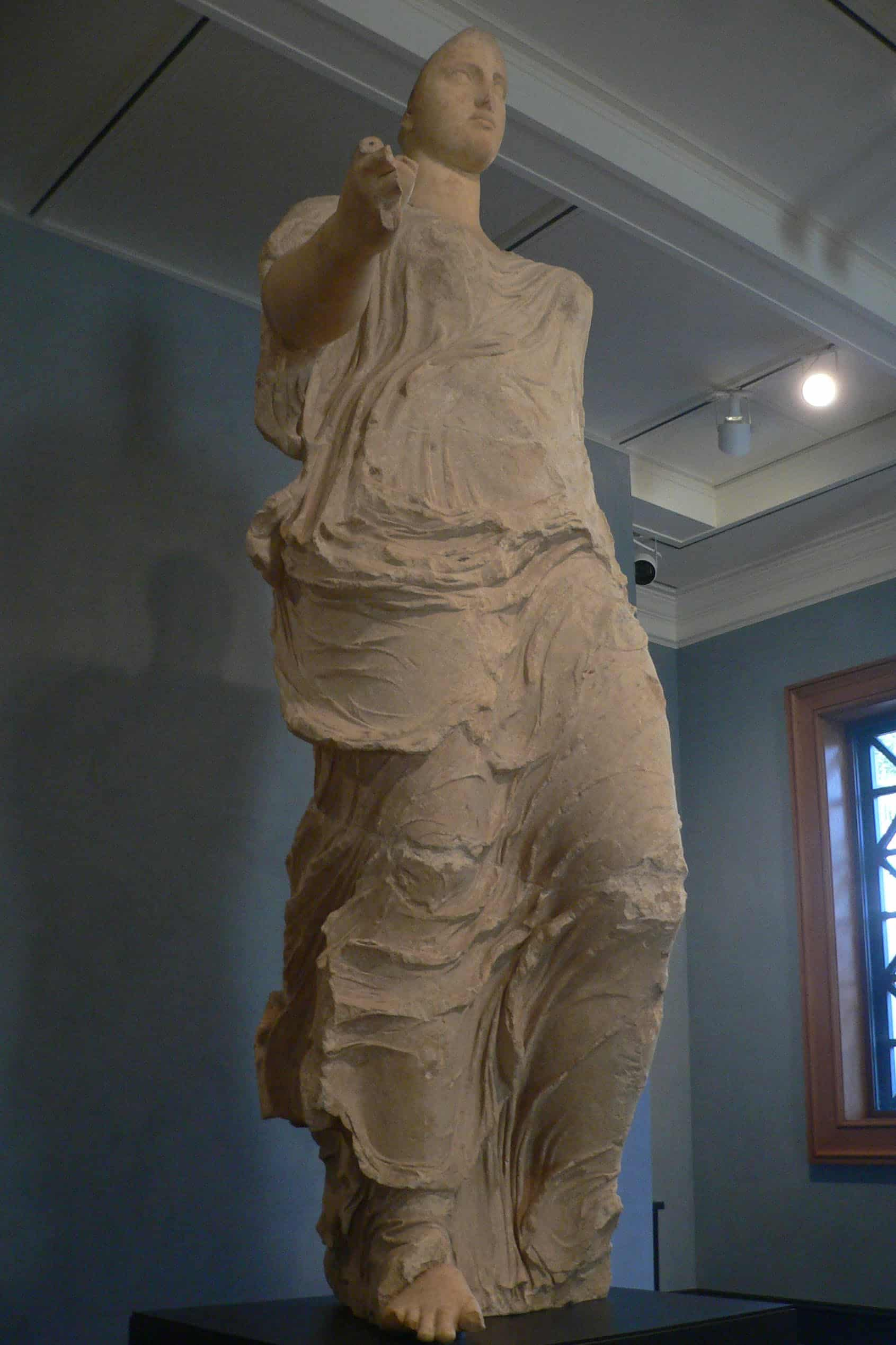 Another example of art crime - the Getty Aphrodite, a statue of a unknown deity. Photo taken by Davie and Margie Hill.