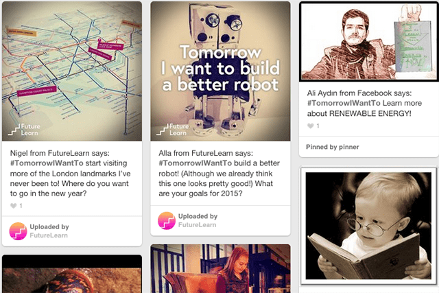 Share your New yYar's goals using #TomorrowIWantTo and we'll add you to our Pinterest board