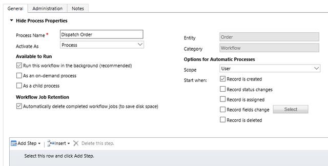 Screenshot of Hide Process Properties