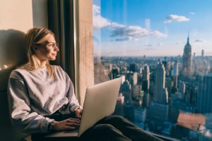 Woman Looking Into Horizon Copy