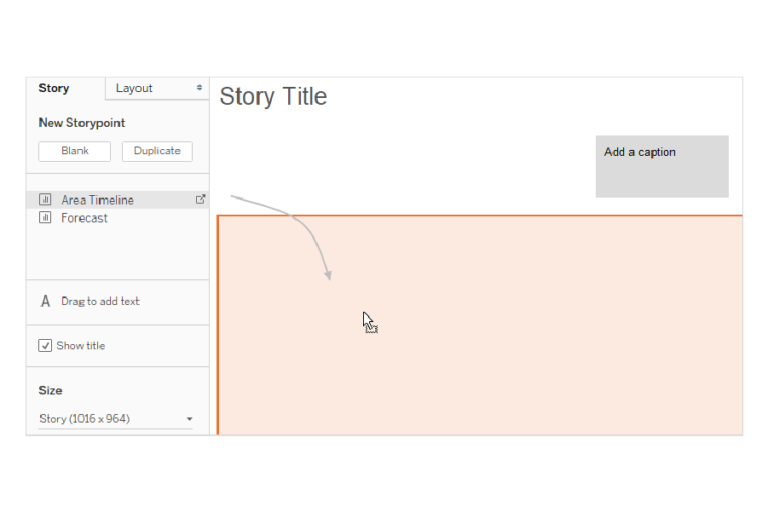 Step 3: Fill in story.