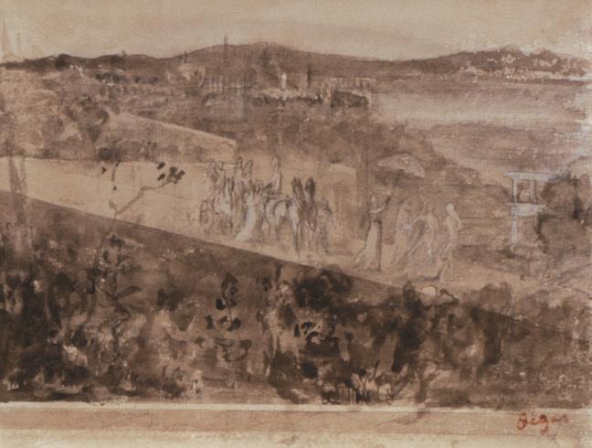 Degas Cortege aux Environs de Florence