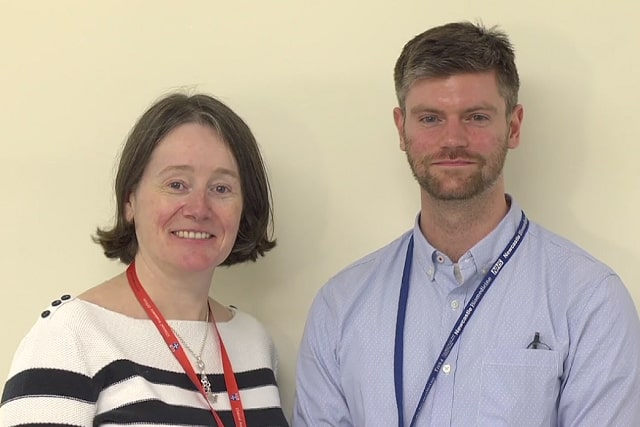 Professor Julia Newton and Dr James Frith - lead educators on the free online course, Ageing Well: Falls