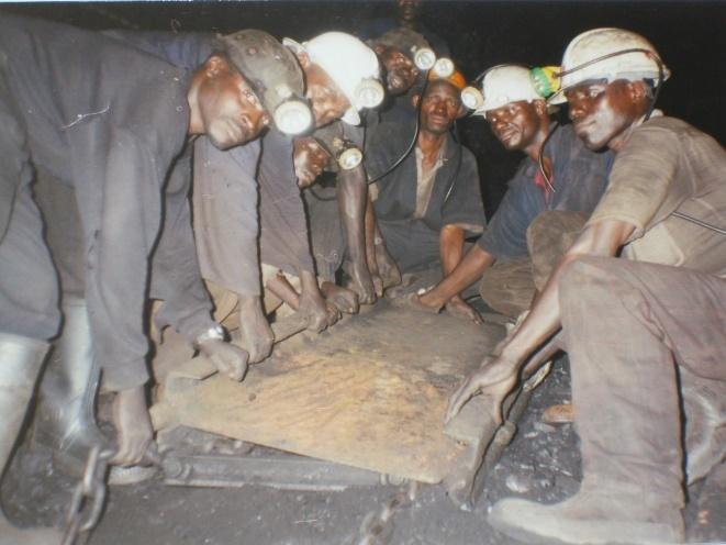 Coal mine workers