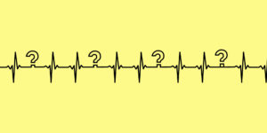 pulse illustration with question marks.