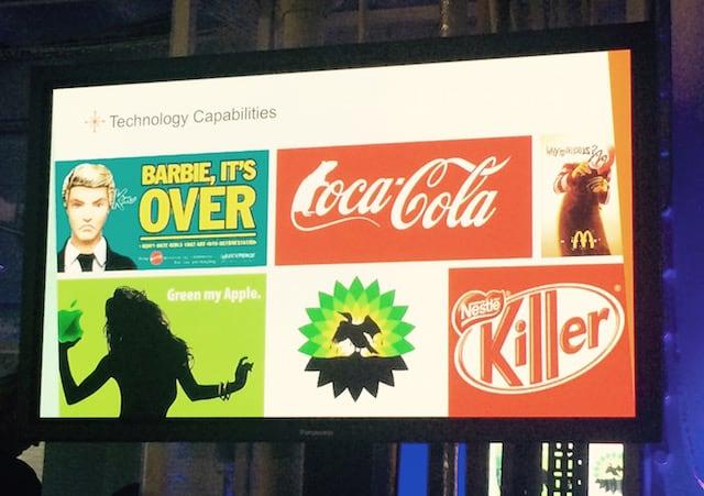 `Brandjacking examples by Sysomos at Social Media Week