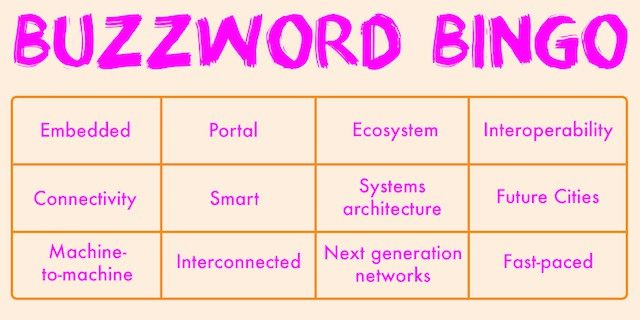 Internet of Things buzzword bingo