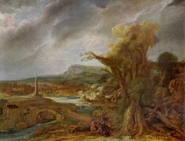 Flinck Landscape with an Obelisk