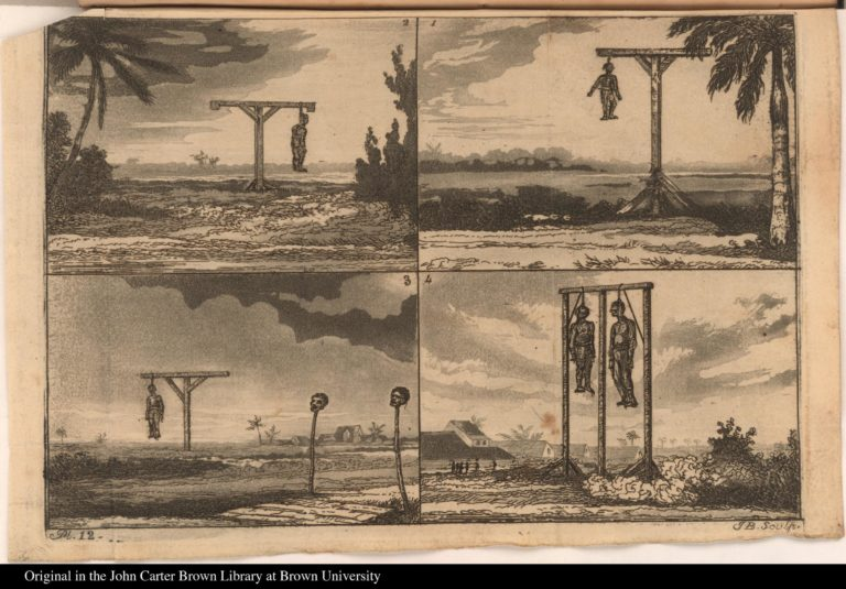 Five of the culprits in chains, as they appeared on the 20th of September, 1823.
