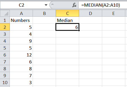 How to calculate a median average in Excel.