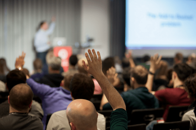 The audience at Future of Web Design 2015