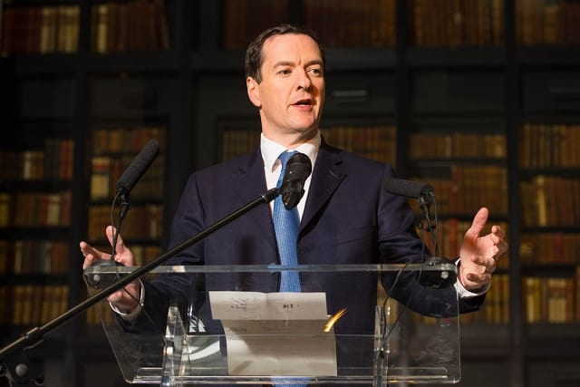 George Osbourne speaking at the British Library, to launch the Knowledge Quarter