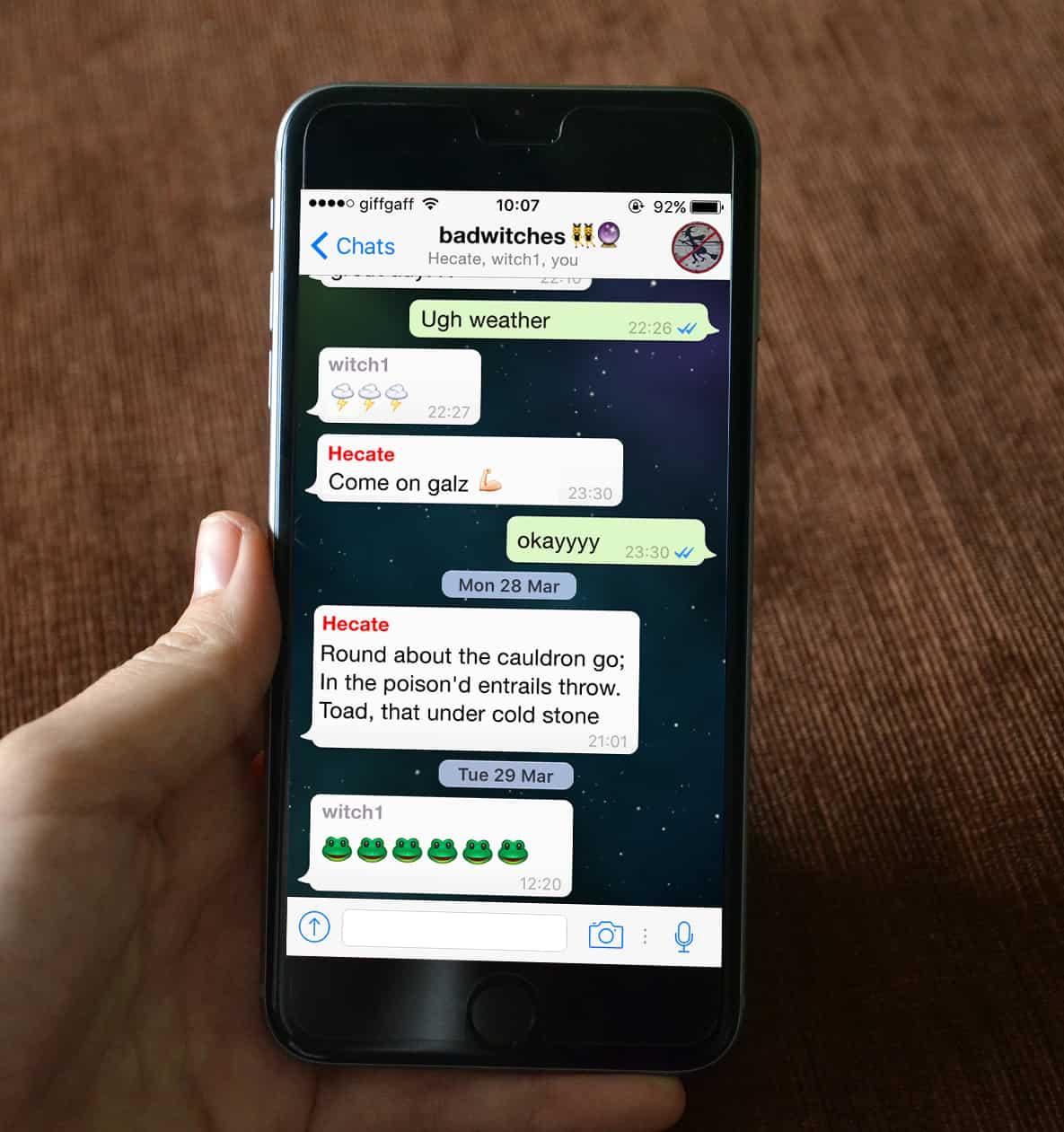macbeth whatsapp