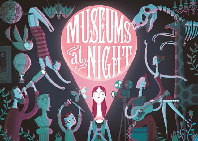 A poster for Museums at Night