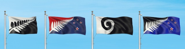 Four alternative designs for the New Zealand flag