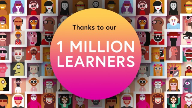 Thanks to our 1 million learners