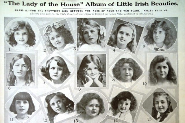 """A page from """"The Lady of the House"""" magazine, published in Dublin in December 1917"""