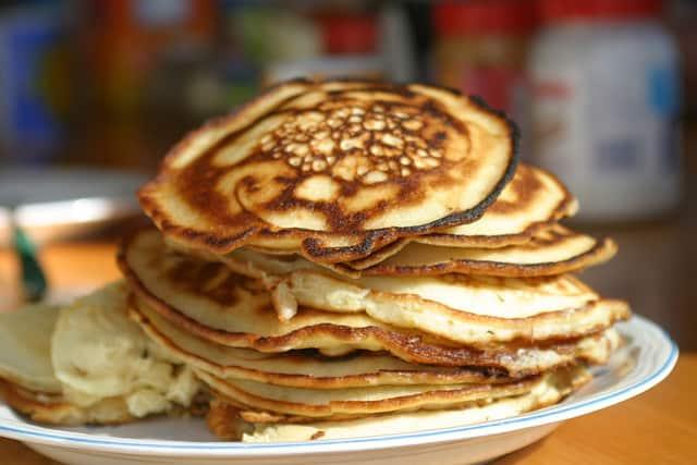 A stack of pancakes to celebrate Pancake Day