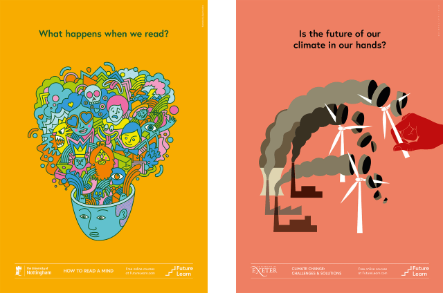 New souvenir posters for two FutureLearn courses