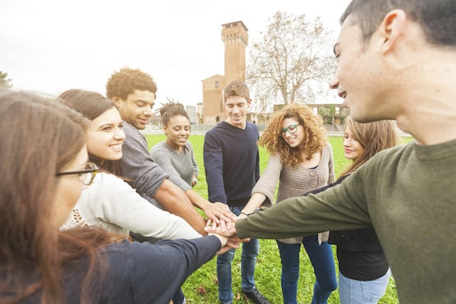 A group of young people who chose to study abroad
